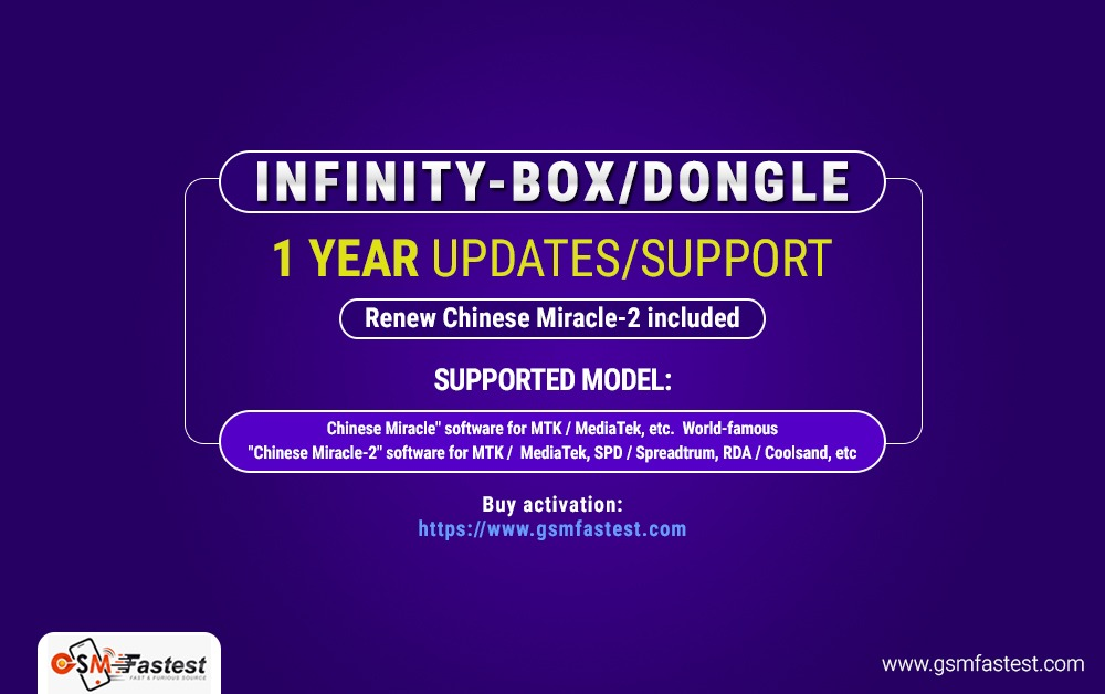 Infinity-Box/Dongle 1 year Updates/Support Renew Chinese Miracle-2 included