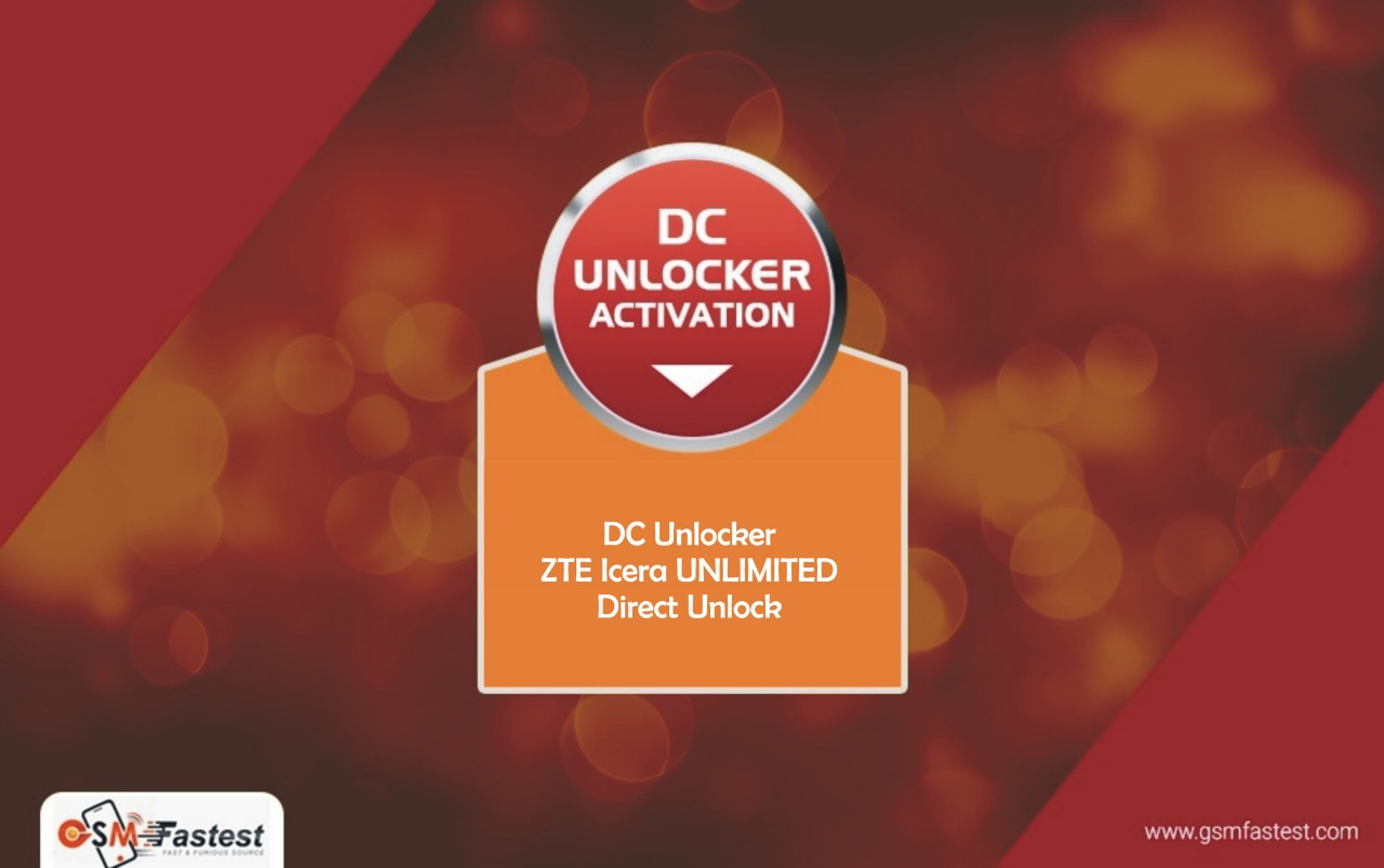 DC Unlocker ZTE Icera UNLIMITED direct unlock