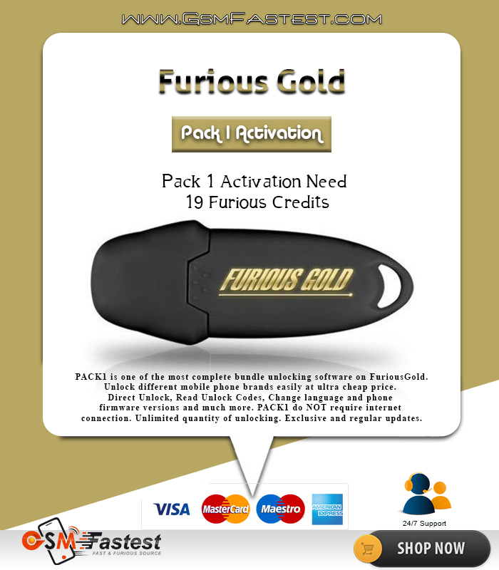 Furious Gold Pack 1 Activation