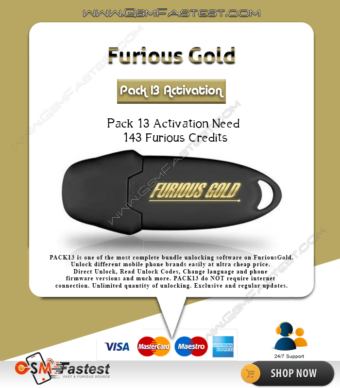 Furious gold credit 13 Credits Pack