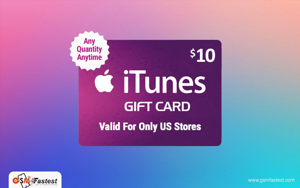 iTune Gift card 10 USD