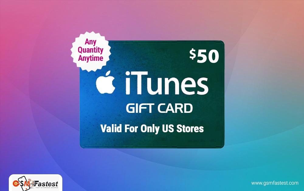 iTune Gift card 50 USD