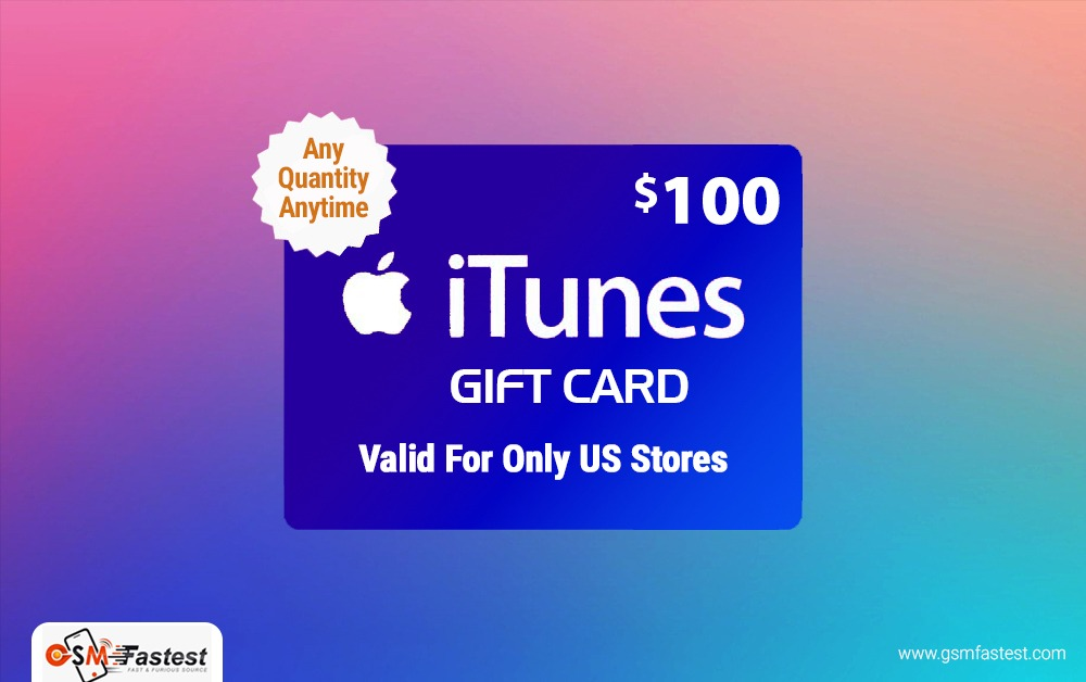 iTune Gift card 100 USD